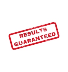 Results guaranteed rubber stamp vector