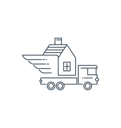 Truck transportation and delivery icon logo vector