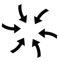 Twirl arrows flat icon vector