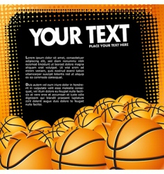 vector basketball banner vector image