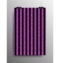Vertical poster parallel pink sequins lines vector