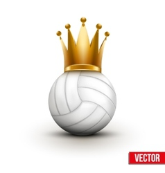 Volleyball ball with royal crown of queen vector