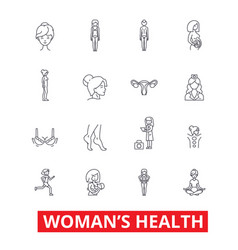 Womens health fitness healthy woman breast vector