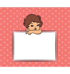 Young retro child vector image vector image