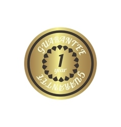 1 year guarantee golden label simple style vector
