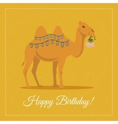 Camel with Flowers vector image