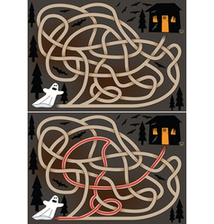 ghost maze vector image