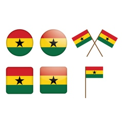 Badges with flag of ghana vector
