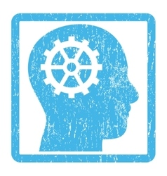 Intellect icon rubber stamp vector