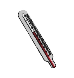 Isolated thermometer design vector