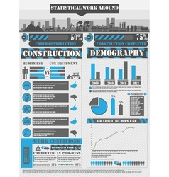 Infographic work blue vector