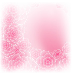 Beautiful pink rose flower background vector