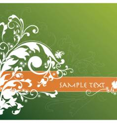 Floral background banner vector