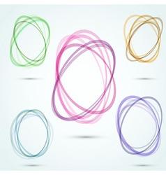 Modern transparent vortex design elements vector
