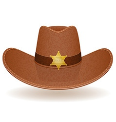 Cowboy hat sheriff vector