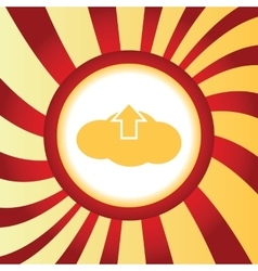 Cloud upload abstract icon vector
