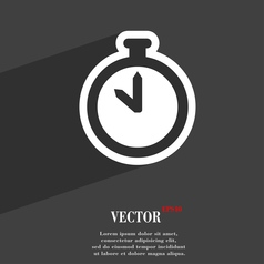 The stopwatch icon symbol flat modern web design vector