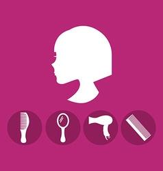 hairdressing service design vector image