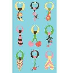 variety of ties vector image