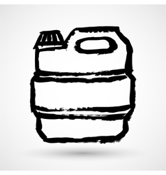 Jerrycan grunge icon vector