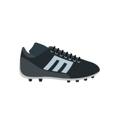 Sport shoe with cleats flat icon vector