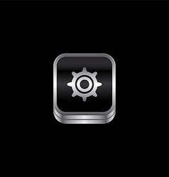 Metal plate theme icon button vector