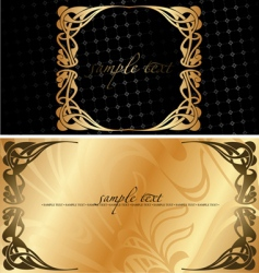 black and golden cover background vector image