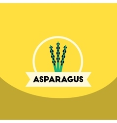 Flat icon design collection asparagus vector