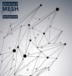 Abstract 3d structure polygonal network pattern vector