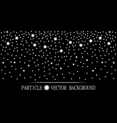 Abstract falling snow particles black background vector
