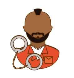 Arrested man with handcuffs icon vector