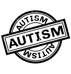 Autism rubber stamp vector