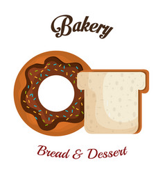 bakery product always fresh vector image vector image