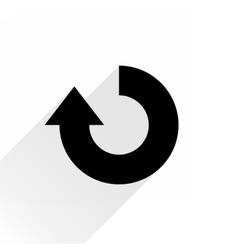 Black arrow icon rotation on white background vector