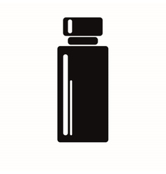 black bottle with shadows white backround tall vector image