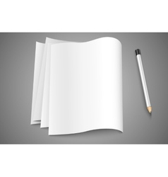 blank pages pages vector image