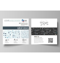Business templates for square brochure flyer vector