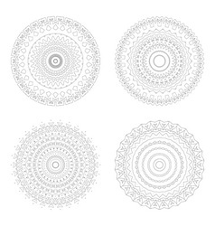 Circular design templates round decorative vector