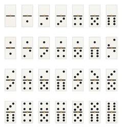domino tabs vector image vector image