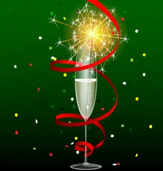 drink and sparkler vector image vector image