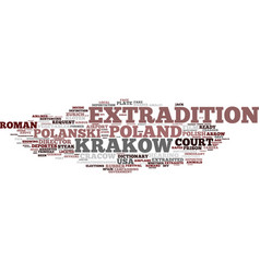 Extradition word cloud concept vector