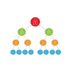 Hierarchy vector image vector image