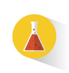 Laboratory flask science school vector