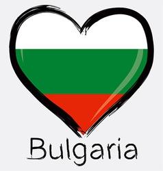 love Bulgaria flag vector image vector image