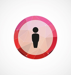 Male circle pink triangle background icon vector