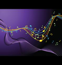 music blend rainbow vector image