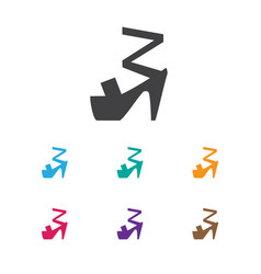 of shopping symbol on heeled vector image