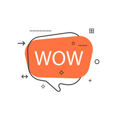 Outline speech bubble with wow phrase vector