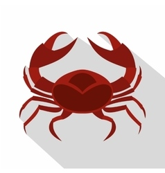 Red sea crab icon flat style vector image vector image