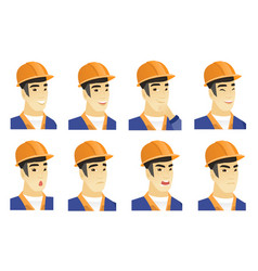 Set of builder characters vector